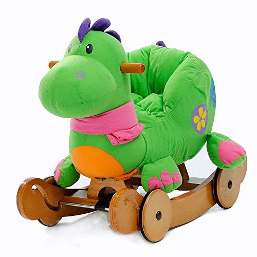 SXNYLY Riding Children's Toy Baby Rocking Horse, 1-3 Years Old Children's Riding Toy, Baby (boys and Girls) Stuffed Animal Rocking Chair, Toddler Children's Riding Toy
