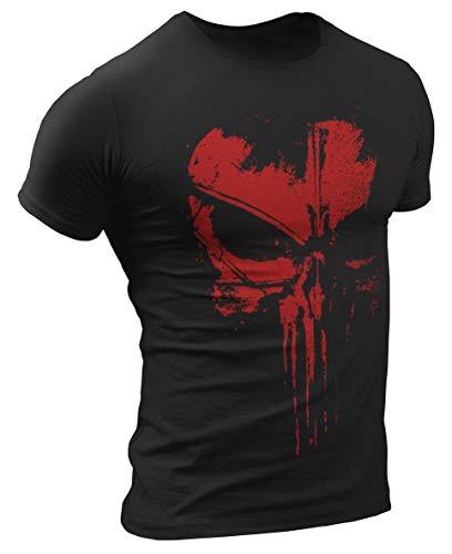Punisher T-Shirt Dunkelrot Ultra Distressed Design #3129 (M)