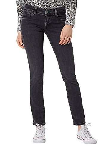 Pepe Jeans Saturn Jeans, Nero Wiser Wash W27, 33W / 32L Donna