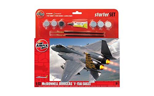 Airfix A55311 1/72 Large Starter Set, Mcdonnell Douglas F-15A Strike Eagl Modellbausatz, Sortiert, 1: 72 Scale