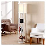 WYZ W. Plataforma LED Lámpara de pie con estantes 3 exhiben almacenaje decoración casera Moderna lámpara de la Esquina/Almacenamiento luz de la iluminación Vertical Z. (Size : 2)