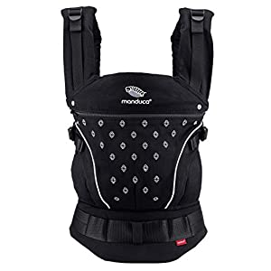 manduca First Baby Carrier > PureCotton < Mochila Portabebe Ergonomica, Algodón Orgánico, Extensión de Espalda Patentada…