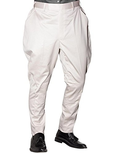 Bagtesh Fashion Mens Cream Color Cotton Jodhpur Equestrian Riding Pants Breeches MT0120 (32)