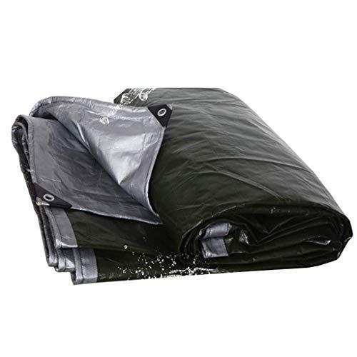 Plane Regendicht verdicken Wasserdichte Korrosionsschutz-Outdoor Camping Zelt Plane Markisen Abdeckung Tuch LKW Linoleum Schuppen Tuch FENGMING (Farbe : Schwarz, größe : 5 *...