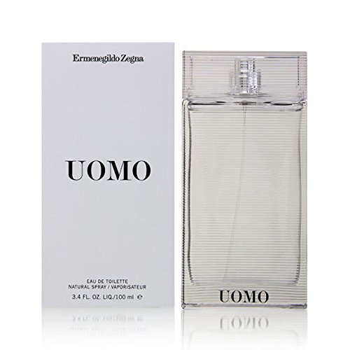 Ermenegildo Zegna Uomo EDT Spray for Men, 3.4 Ounce