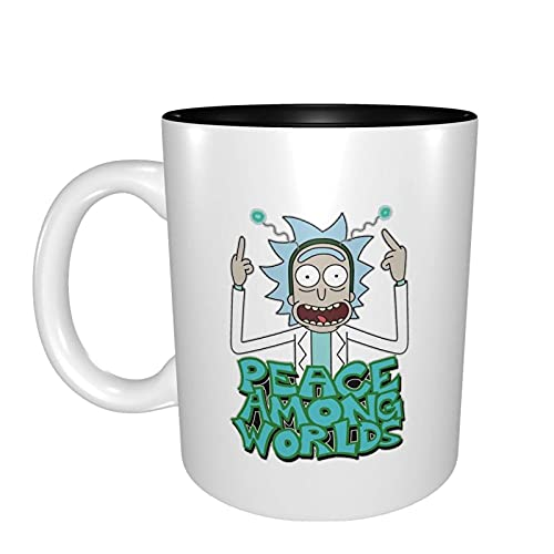 Hirola Taza de cerámica de Rick and Morty Taza de café divertida única taza de café, taza de viaje y tazas de té para mujeres