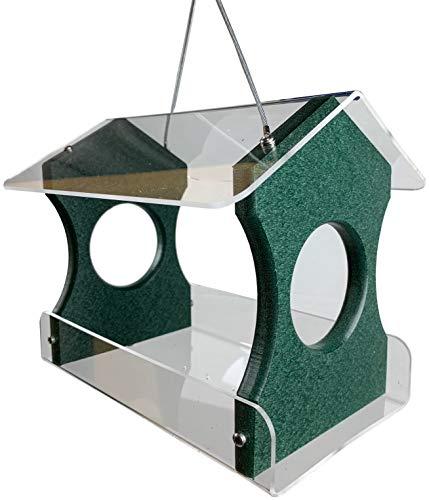 JC's Wildlife Recycled Poly Lumber Hanging Bird Feeder (Green)