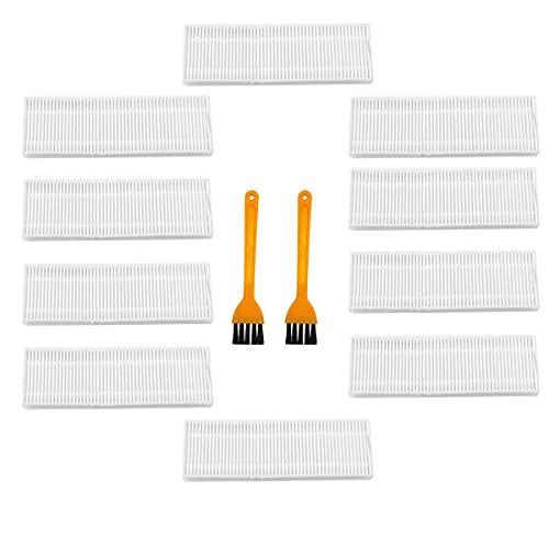 Fantisi Para aspiradora OKP Life PA2100 K2, 10 filtros HEPA + 2 cepillos de limpieza