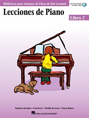 Lecciones de Piano 2 Piano (incluye accesos a audio y midi): Libro 2 / Book 2 (Biblioteca Para Alumnos de Piano de Hal Leonard)