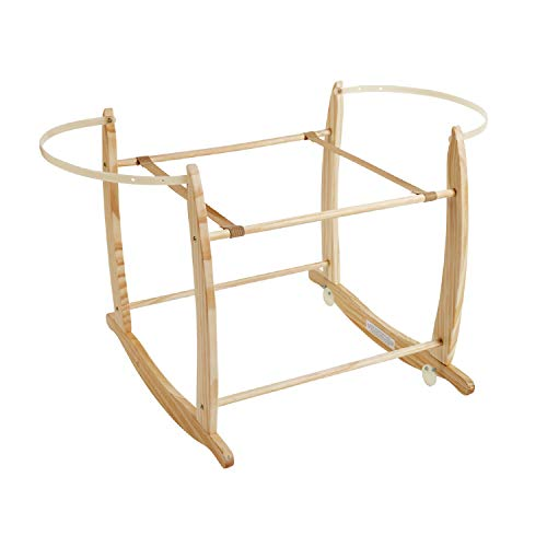 Clair de Lune Deluxe Rocking Moses basket stand (Natural)