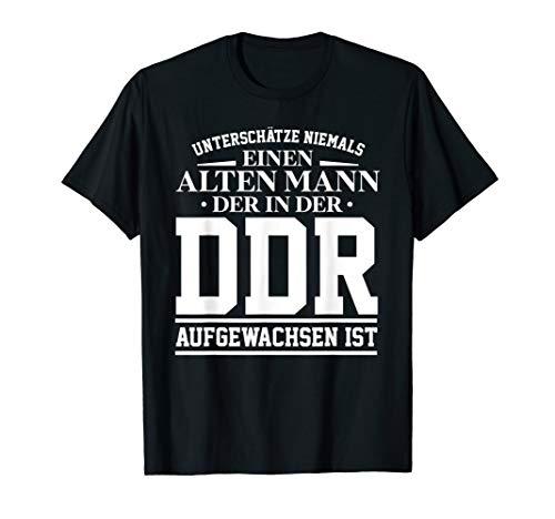 Herren DDR Ossi Ostdeutschland Spruch alter Mann Geschenk T-Shirt