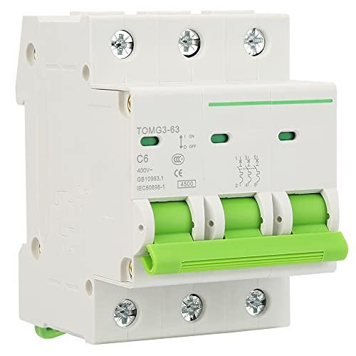 Interruttore delicatore delicato, 6A / 10A / 16A / 20A / 25A / 16A / 20A / 25A 400 V AC Precision Copper Copper Interruttore automatico in miniatura Plastica e metallo