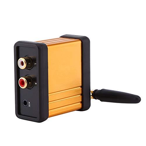 Material de la Carcasa de Aluminio Mini Hi-Fi Bluetooth 4.2 Receptor de Audio Adaptador de Caja estéreo Placa de Amplificador de Salida RCA DC 5V