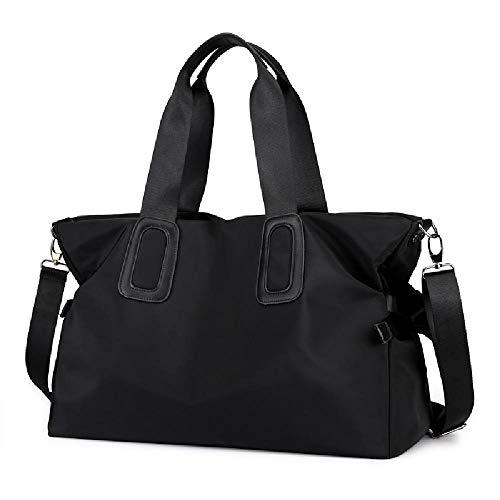 Große Kapazität Damen eine Schulter Tragbare Reisetasche Wasserdichte Tasche All-Match Bag Light Messenger Große Tasche, Schwarz - Schwarz  - Größe: Einheitsgröße