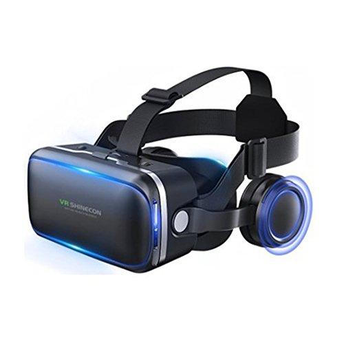 Aizbo Virtual Reality Headset, Brille für iPhone/ Android Smartphones, mit multifunktionaler Bluetooth-Fernbedienung (funktioniert nur für Android, nicht mit iOS)