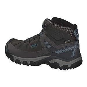KEEN Women's Targhee 3 Mid Waterproof Hiking Boot, Magnet/Atlantic Blue, 7