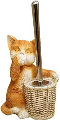 Cat sculptuur wassen toiletborstel stoombad Gratis stempelen Geen dode hoek toiletborstelhouder Set borstel wc borstel toiletborstel