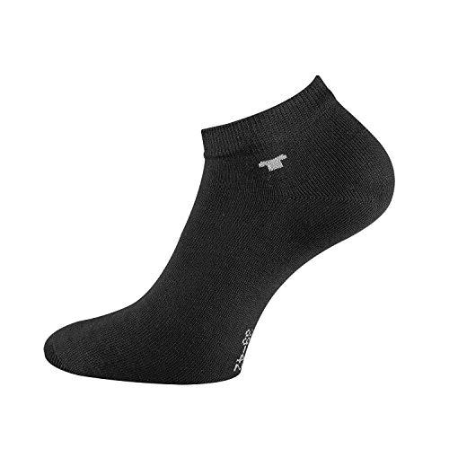 TOM TAILOR Unisex - 8 Paar perfekte Sneakersocken mit Anti-Loch-Garantie, Füßlinge, Enkelsocken (Schwarz, 43-46)