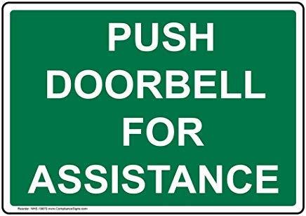 Wendana Push deurbel voor bijstandsbord, grappige wensborden, poortbord, vandaar Yard Sign,8