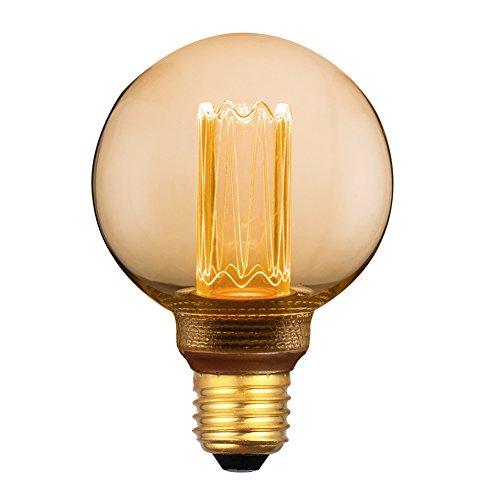 Vintage Edison Glühbirne Harwez E27 G80 LED Lampe Amber Retro Glühbirne, dimmbar, 3.5W, 1800K, Glühbirne Ideal für Haus Café Bar usw - 1 Stück