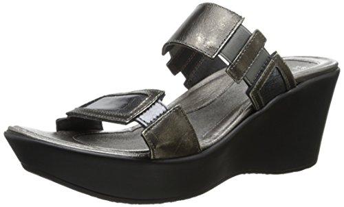 Naot Women's Wedge Sandal Treasure Metal Lthr Combo 11 M US