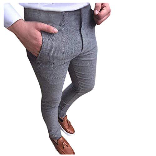MINIKIMI business broek heren slim fit pak joggingbroek stretch vrijetijdsbroek skinny stofbroek stijlvolle casual chino jogger broek met zakken