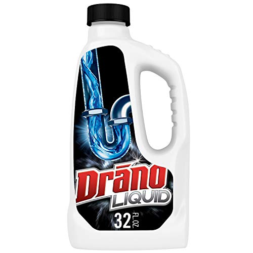 Drano Liquid Drain Clog Remover and Cleaner for Shower or Sink Drains, Unclogs and Removes Hair, Soap Scum, Blockages, 32 oz