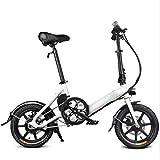 Bicicletas Eléctricas, 16 pulgadas eléctrica plegable Bicicletas, 7.8A batería de litio aumento de velocidad variable de bicicletas ciudad conmute Out Sports Ciclismo ,Bicicleta ( Color : White )