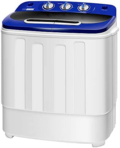 VIVOHOME Electric Portable 2 in 1 Twin Tub Mini Laundry Washer and Spin Dryer Combo Washing product image