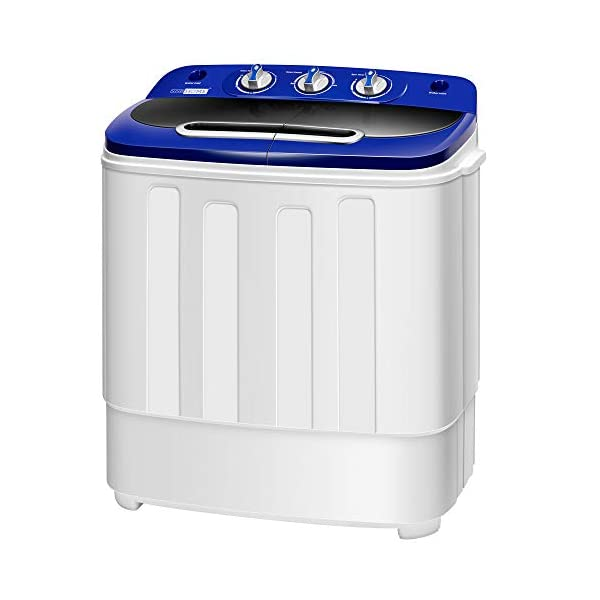 VIVOHOME Electric Portable 2 in 1 Twin Tub Mini Laundry Washer and Spin Dryer Combo...
