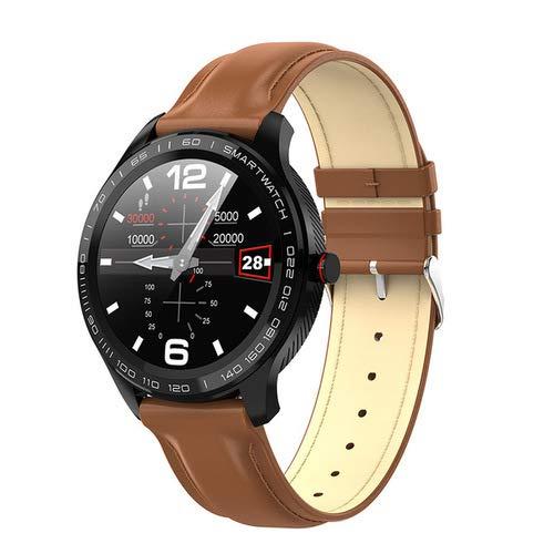 JKC - Reloj inteligente de ejercicio deportivo, gel de sílice Bluetooth T500, resistente al agua, con mensaje de empuje, pulsera para Android e iOS
