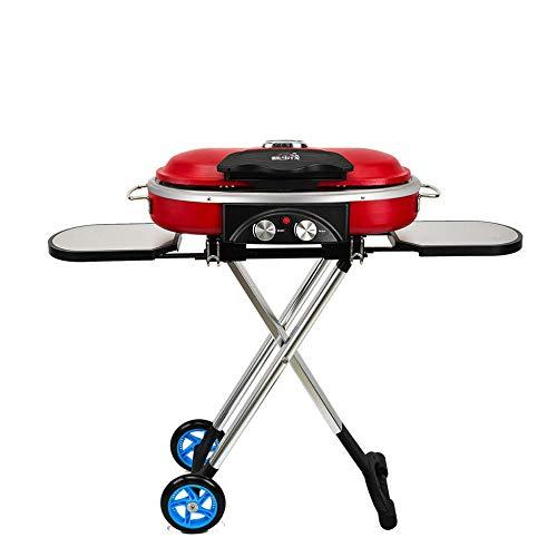 CYOYO Carrello Portatile Integrato BBQ Grill Barbecue da Campeggio All'Aperto Barbecue Stufa A Gas-Rosso