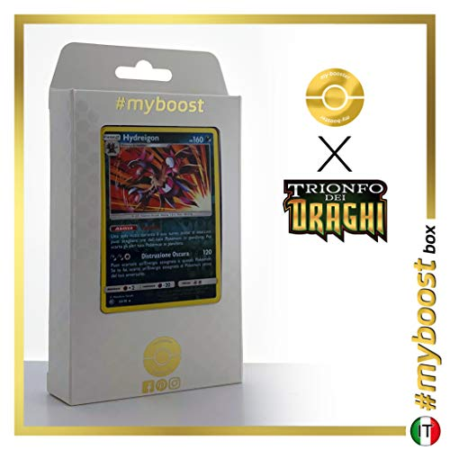 Hydreigon 33/70 Holo Reverse - #myboost X Sole E Luna 7.5 Trionfo dei Draghi - Box di 10 Carte Pokémon Italiane