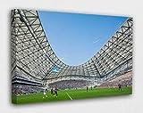 Kunstdruck auf Leinwand, Motiv Olympique Marseille, Poster