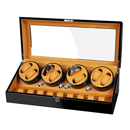 FFAN Enrollador de Reloj automático 8 + 9 Caja de enrollador de Reloj con Motor silencioso Gran Capacidad Acabado de Piano Ajuste Relojes Lady Man Good Life