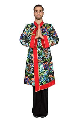 Wilbers Drachenkostüm Kostüm Drache Mantel Herren China Samurai Karneval Fasching Bunt 60 (4XL)