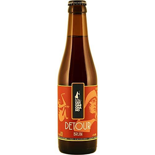 San Gimignano Cerveza Oscura artesana Detour 100% Bio - 33 cl (Paquete de 12 Piezas)