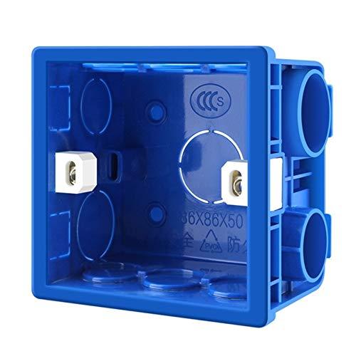 zhangxia Smart Plug Smart Plugs Smart Plug 10 PCS Casete de PVC Retardante de Llama de Empalme Inferior Switch Box Socket Universal Box