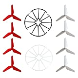 Hooray Service 3-Blade 3-Leaf Upgrade Propellers & Prop Guards for Syma X5C-1 X5A X5C X5SC X5SW JJRC H5C H31 RC Quadcopter