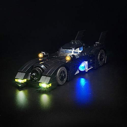 Leic Kit de iluminación LED Building Blocks Juego de Luces de decoración con alimentación USB para Lego Batmobile 40433 (LED Incluido Solo, sin Kit Lego)