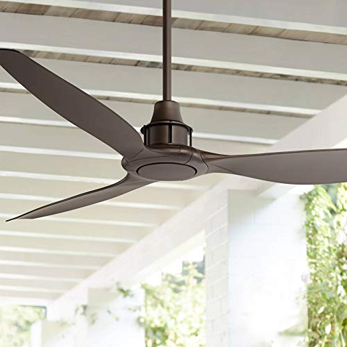 58' Interceptor Modern Outdoor Ceiling Fan with Remote Oil Rubbed...