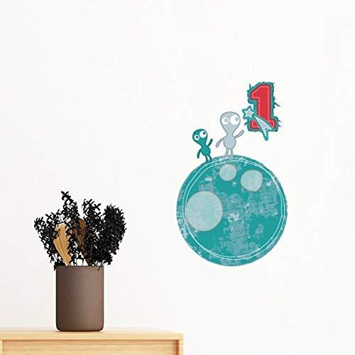 DIYthinker Univers et Monster Alien sur Terre Amovible Wall Sticker Art Mural Stickers DIY Papier Peint Chambre Decal 35cm
