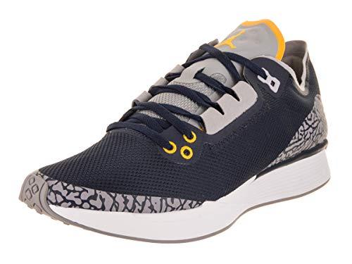 Jordan Nike Men's 88 Racer Running Shoe, College Navy/Amarillo, Size 9.0