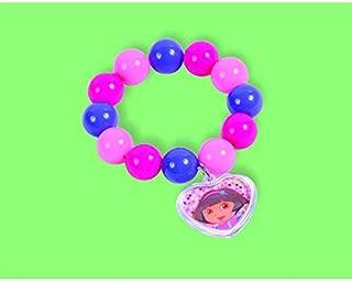 Amscan Colorful Dora The Explorer Birthday Party Bead Bracelet (1 Piece), Pink/Purple/Blue