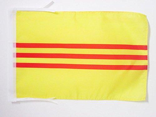 AZ FLAG Flagge SÜDVIETNAM 45x30cm mit Kordel - Staat Vietnam Fahne 30 x 45 cm - flaggen Top Qualität