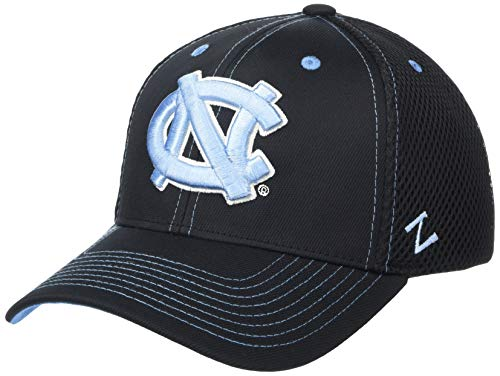 NCAA North Carolina Tar Heels Men's Oakland Stretch Fit Hat, Black, Large