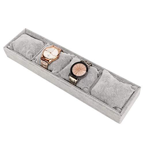 DAUERHAFT Tenedor de Reloj de Almacenamiento de Joyas Simple 4 Ranuras de Rejilla, para Almacenamiento de Joyas
