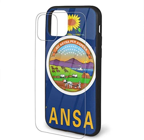 DAWN & ROSE - Carcasa para iPhone 11 (poliuretano termoplástico), diseño de la bandera de Kansas