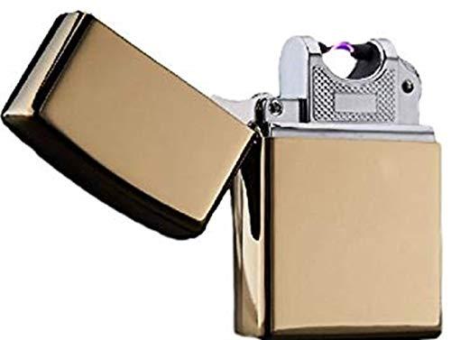 リタプロショップ? USB充電式 スパークライター アーク放電 プラズマライター (ゴールド)