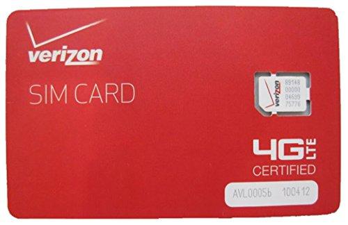 New Verizon Wireless 4G LTE NANO Sim Card NFC - 4FF - Genuine OEM For Service (20 Pieces)